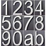 número de casa Acero Inoxidable Diseño Arial todos los números en 2d/3d Altura 20cm v2aox