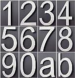 Hausnummer Edelstahl Design Arial ALLE ZAHLEN in 2D / 3D Höhe 20cm V2Aox, Ziffer:2;Stil:2D
