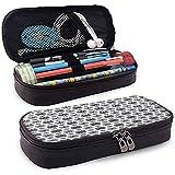Pochette à crayons, trousse à crayons, trousse à crayons, bande élastique de grande capacité conception végétale abstraite 20 cm * 9 cm * 4 cm