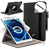 Forefront Cases® Samsung Galaxy Tab A 10.1 SM-T580 Funda Carcasa Stand Smart Case Cover Protectora Giratorio de Cuero – Función automática inteligente de Suspensión/Encendido + Lápiz óptico