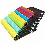 Rutschfeste Yogamatte »Suri« (Maße: 183x61x0,5 cm) inkl gratis Tragebänder für die Matte - die ideale Matte für Yoga & Pilates/in den Farben schwarz, blau, grün, orange, türkis und pink/Blau