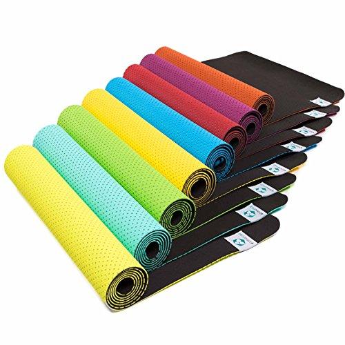 Yogamatte »Suri« / Umweltfreundliche und hypo-allergene TPE-Matte, weich und rutschfest, ideal für alle Yoga-Lehrer und Yogis / Maße: 183 x 61 x 0,5cm / türkis