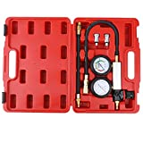 KKmoon Kit de comprobador de compresión Detector de fugas del cilindro Medidor de presión del cilindro de coche