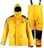 Navis Marine Coastal Segeln Jacke mit Latz Hose Angeln Regen Anzug Witterung Gear Sky Blau, Gelb, Large