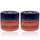 Ozium Gel Smoke & Odor Eliminator - The Original Anywhere Odor Eliminator & Deodorizer, Fresh Citrus Scent for Home, Office, RV and Car Air Freshener 4.5 oz Gel (Pack of 2)