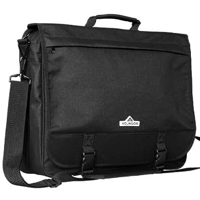 Aktentasche Umhängetasche Schultertasche für Laptop und Dokumente, schwarz
