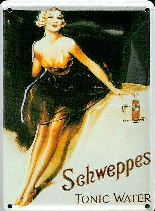 retro-wandschild-designer-schild-schweppes-tonic-water-deko-8x11cm-nostalgie-metal-sign-d021