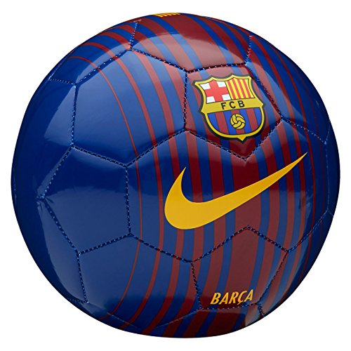nike FCB NK Skls Balón de Fútbol, Unisex Adulto, Azul / (Deep Royal / Noble Red / University Gold), 1