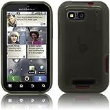 Schutzhülle für Motorola Defy / Defy+ Plus - Slim Case in Transparent Schwarz von PrimaCase