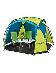 Columbus A08314 Abri de Camping Mixte Adulte, Jaune/Vert
