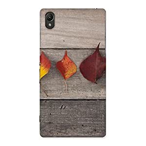 Delighted Leaves on Wood Back Case Cover for Sony Xperia Z2