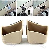 Guance 2 X Car Pillar Pocket Holder Box Cigarette Cellphone Sunglass Holder Beige for Hyundai Verna 2020