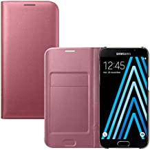 Etui Samsung A5 2016, Lincivius® Housse Samsung Galaxy A5 2016 Coque Portefeuille Rose clair Integrale Rabatable Rabat Protection Pochette Refermable Integrale Flip Cover