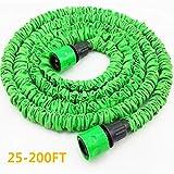 Shoppy Star Magic - Manguera Flexible Extensible para jardín de 63,5 a 200 m, Manguera de riego para riego (sin pulverizador), Color Verde