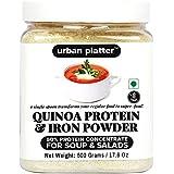 Urban Platter Quinoa Protein & Iron Powder For Soups & Salads, 500g [All Natural, 50% Protein Content, Vegan]