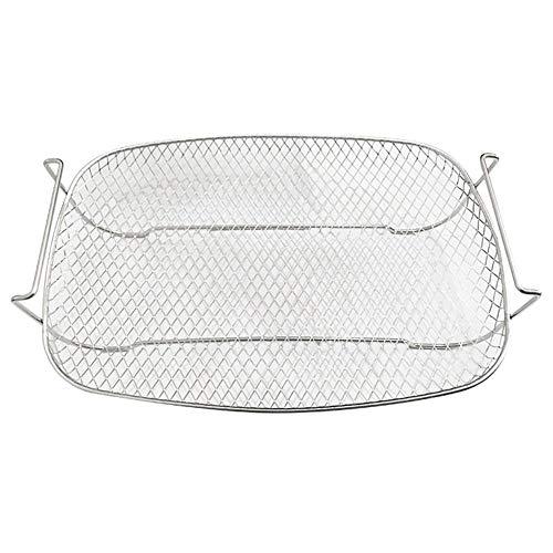 G-wukeer Grillständer, Edelstahlgrill Kleines Dampfgarer Multifunktionsisolations-Grillwerkzeug für den Außenbereich, 26,4 19,2 7,2 cm