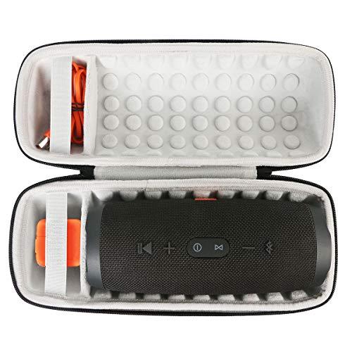 Khanka EVA Dur Cas Voyage Etui Housse Sac Case pour JBL Charge 4 Enceinte Portable (Noir)
