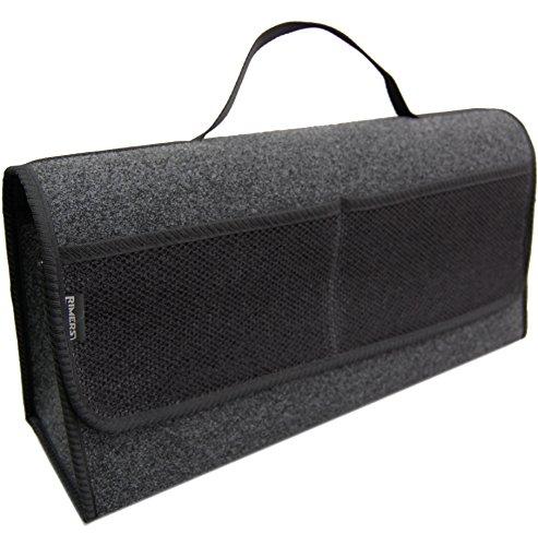 Kofferraumtasche SCHWARZ Auto Tasche Zubehörtasche Car Boot Organiser Toolbag RIMERS 50x16x21cm Klettverschluss