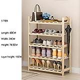 Schuh Steht Für Flur Schlafzimmer Eingangsbereich Aus Holz Chinesische Tanne Kleine Rack 3 Bis 6 Tier 60 * 24 * 45,5 Cm ( größe : 5 tier )