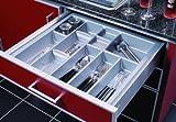 Besteckeinsatz Linea für 50cm Schublade Kunststoff genarbt