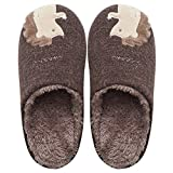 Zanzan Home Slippers Comfortable Warm Cartoon Plush Cute Squirrel Unisex Indoor Cotton Slippers,02,42^43
