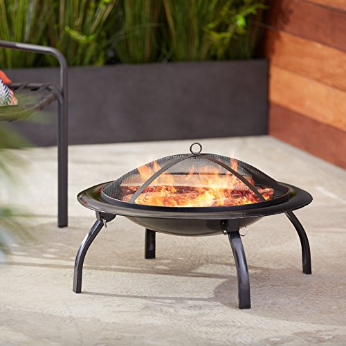 AmazonBasics Portable Folding Fire Pit, 66 cm