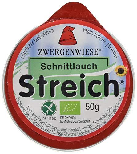 Zwergenwiese Schnittlauch 50 g Bio Brotaufstrich Vegetarisch, 12er Pack (12 x 50 g)