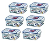 6 x Lock & Lock Rect 180ml Food Container HPL805