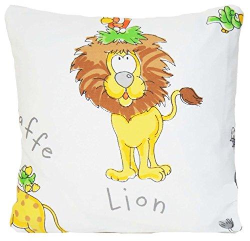Animal Lion pour enfant Housse de coussin Tissu Couvre-lit décoratif taie d'oreiller coton couvre-lit décoratif taie d'oreiller Girafe Lion éléphant