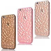 CreWin 3 Pack iPhone 6S Hülle, iPhone 6 Weiche Silikon TPU Handyhülle Bling Glitzer 3D Diamant Form Crystal Schutzhülle... preisvergleich bei billige-tabletten.eu