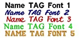 CUSTOM Personalised Embroidered Iron-On Patches, Your Name Tag , by ONEKOOL , SET OF 6 BADGES