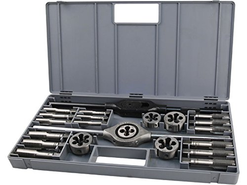 Extol Premium Gewindebohrer und Schneideisen M12-M20, Set 23 Stück, 8816502