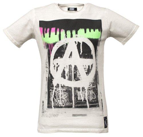 NO FUTURE Herren T-Shirt, Bombed Wall, Fashion Tee, offwhite, NF/GAS-12-004, GR XL