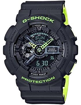 G-Shock Men's GA110LN-8ACR Watch Black Green