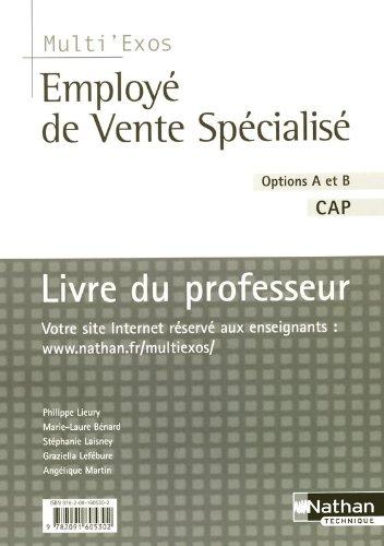 Livre du professeur Employ de vente spcialis, options A et B