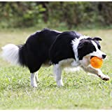 Pets Empire Dog Squeaker Squeaky Toy Play Ball with High Bounce for Small Medium Large Aggressive Chewers (Color May Vary)