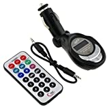 Car Mp3 FM Modulator Transmitter USB & Memory Card Slots With Remote