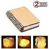 Mini libro lampade, USB ricaricabile pieghevole in legno LED luce del libro per arredamento/scrivania/tavolo/parete - batterie al litio 880mAh