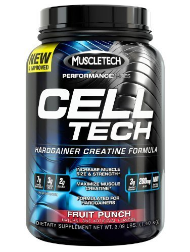 MuscleTech Cell-Tech Performance Series, Fruit Punch, 3.09 lb., Creatine HCl, Creatine Monohydrate and Carbohydrate Powder by MuscleTech