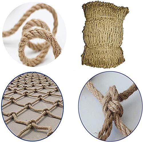 GZHENH Netz Dekor Netz Fischnetz Wand ,Sicheres Netz Balkonschutznetz Handgewebt Dekorationsnetz (4 / 6mm; / 12cm), Anpassbar (Color : Beige-4mm, Size : 3x3m)