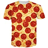 BFUSTYLE Unisex Pizza All Over Printed Hip-Hop-Art-T-Shirts