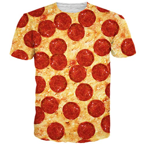 bfustyle-unisexe-drole-food-pizza-impression-a-manches-courtes-t-shirt-tees