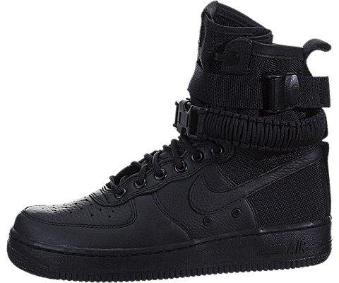 Nike Damen SF Air Force 1 Schwarz Leder Stiefel, Schwarz (Black), 40.5 EU (Air Force Trainingshose)