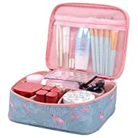 Large-capacity Travel Makeup Cosmetic Bag Travel Shower Bags for Women Flamingo
