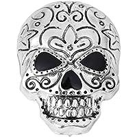 Xuniu Mode Brosche, Halloween-Legierung Punk Skull Vintage Brosche Modeschmuck Party Geschenk Silber