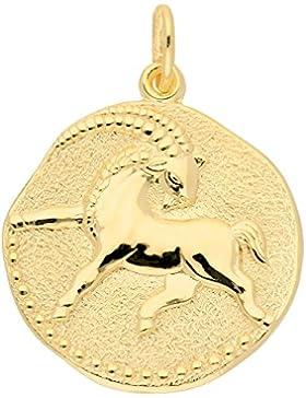 Gold 8 k ( 333 ) Sternzeichen Anhänger - Steinbock - Ø 18,2 mm