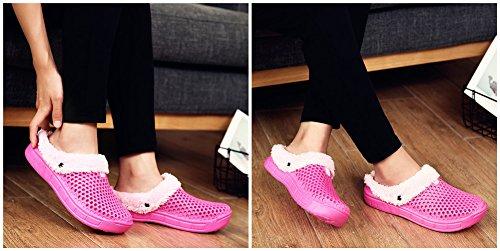 Unisex Adulto Invernali Pantofole Confortevole Caldo Pantofole Caldo e traspirante BETY 35-44EU Lime rosso