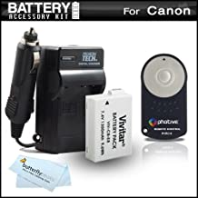 Battery And Charger + Wireless Shutter Release Kit For Canon EOS Rebel T2i T3i DSLR Camera Includes Extended Replacement (1700mAH) Battery For Canon LP-E8 + Ac/Dc Travel Charger + Photive RC-6 Wireless Shutter Release Remote Control + More