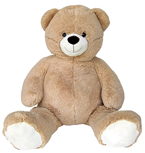 Wagner 9033 - Riesen XXL Teddybär 140 cm groß in hell-braun - Plüschbär Kuschelbär Teddy Bär in beige 1,40 m (Extra Großer Teddybär)