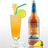 Zombie 28% Vol. - PreMix für 17 alkoholische Cocktails – Flasche 0,7 l mit allen Zutaten - Einfach mit Ananassaft & Eis mixen, fertig
